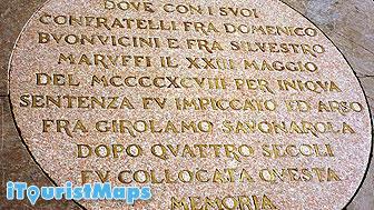 Photo of Savonarola Memorial Sign